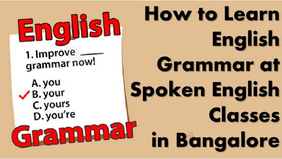 How to Learn English Grammar Workshop at Spoken English Classes in Bangalore